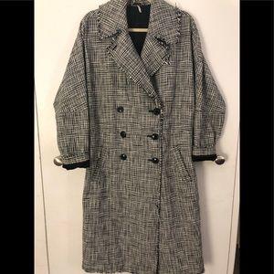 Free people plaid menswear maxi coat XS/S